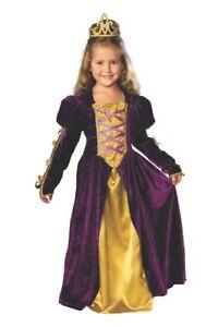 Royal Kids Regal Queen Costume ~ Purple/Gold Renaissance Gown, Rubies 882048