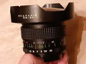 Lens  ZODIAK - 8 .. 30mm, 3.5 - For  Kiev 60 Pentacon Six № 910262