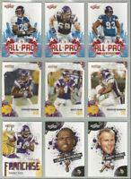 Minnesota Vikings 9 card 2010 Score insert & parallel lot-all different