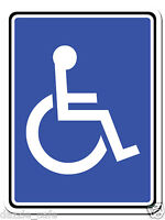 Disabled Parking Signs - SET OF TWO Metal Signs Person in Wheelchair 9x12inch