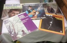 """Lot of 5 SONNY JAMES 45 rpm 7"""" VINYL RECORDS w/ PICTURE SLEEVES"""