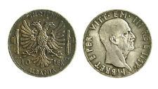 pcc1849_5) ALBANIA Vittorio Emanuele III  (1939-1943) 10 LEK 1939 TONED