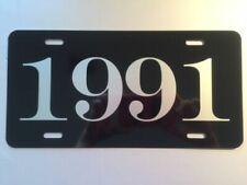 1991 YEAR METAL LICENSE PLATE CAMARO MUSTANG LX GT CORVETTE 280Z TRANS-AM JEEP