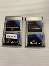 2X IBM Microdrive 1 GB Hard Drive with PC Card Adapter