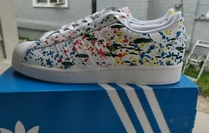 Adidas Superstar Paint Splatter Shoes Sneakers - Size Mens 12- New