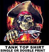 ff9637715a7fa DEAD MEN TELL NO TALES PIRATE SKULL CROSSED BONES CARIBBEAN TANK TOP SHIRT  23
