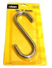 2PCS Stainless Steel Metal S Hooks Kitchen Utensil Hanger Cloths Hanging Rail