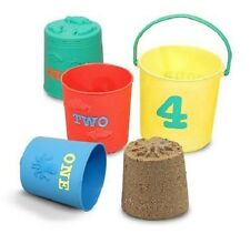 Melissa & Doug Seaside Sidekicks Nesting Pails Sand Toys #6424 BRAND NEW