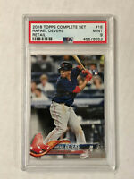 RAFAEL DEVERS 2018 Topps Complete Set RETAIL SP RC #18! PSA MINT 9! RED SOX!