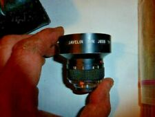 Javelin P/N J6518 TV Lens 6.5mm f/1.8 C Mount Ultrawide MADE IN JAPAN WITH CASE