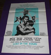 LOST IN THE STARS MOVIE POSTER ORIG ONE SHEET MELBA MOORE CLIFTON DAVIS