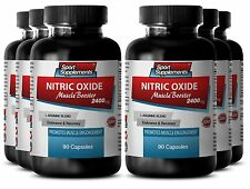 L-Arginine Powder - Nitric Oxide Boost 2400mg - Trigger Intense Vascularity 6B