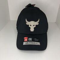 Under Armour Project Rock Womens Hat Cap Adjustable Black Gold 1323375-001
