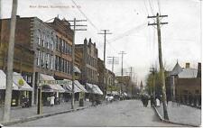 Main Street Buckhannon WV nice postcard postally used in 1908