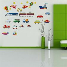 Train Car Helicopter Bus Bulldozer Removable Wall Sticker Boy Kids Decal TCE