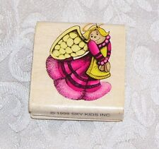 Cute Angel Rubber Embossing Stamp By Sky Kids 1998