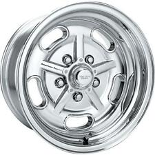 1) 15X8 SALT FLAT AM RACING HOT ROD FORD CHEVY WHEELS AMERICAN RACING POLISHED