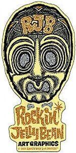 RJB Mask Gold Sticker Decal Rockin Jelly Bean R40