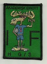 Swedish Akademisk Idrott Academic Sport Cartoon Moose Embroidery Applique Patch
