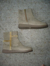 New faux suede boots in Beige UK 12 for girls