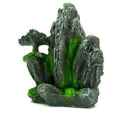 """New listing Mountain View Aquarium Ornament Tree 3.1x3.4x4.5"""" S- Rock Decoration Fish Tank"""