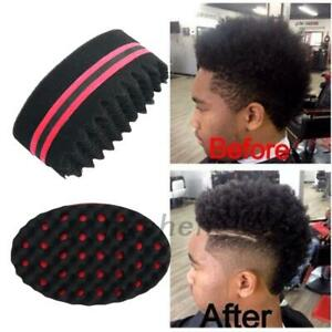 Useful Sponge Wave Barber Hair Brush for Dreads Afro Curls Coil Magic Tool Hot
