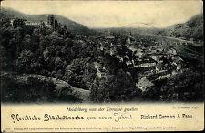 Heidelberg am Neckar alte Postkarte um 1910 Neujahr Gruss-AK Richard German Frau