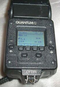 Quantum QFLASH TRIO QF8N TTL Basic NIKON DSLR SLR Camera PARTS **WORKS** *AS-IS*