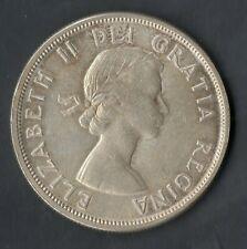 CANADA RARE MONNAIE EN ARGENT DE 1 DOLLAR DE 1960 @ 1$ DOLLAR SILVER CANADA 1960
