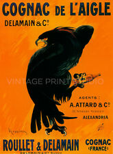 COGNAC BLACK EAGLE, Leonetto Cappiello Vintage Liquor Canvas Print 20x27