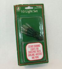 Incandescent Christmas Lights for Wreath/Mantel/Village Battery Operated . Clear