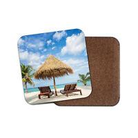 Sea Sand Exotic Fun Palm Tree Tropical Cool Gift #13078 Awesome Beach Coaster
