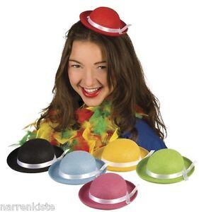 Clown Hut mini Melone Zylinder Kostüm Zirkus Kasper Clownkostüm Hose Frack Kleid