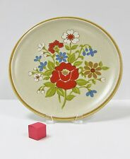 """PREMIERE COUNTRY CASUALS CORSAGE PATTERN  F 8001 12.5"""" CHOP PLATE TAN RED FLOWER"""