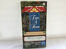 VINTAGE TRIM A HOME 50 FANCY BRIGHT CHRISTMAS LIGHTS MULTICOLORED - NEW