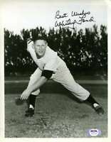 Whitey Ford Psa/dna Coa Autograph Hand Signed Vintage 8x10 Photo