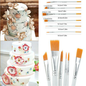 6pcs Flexible Painting Brushes Cake Decorating Fondant Dusting Sugar Craft Tool