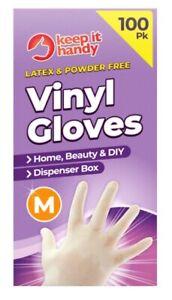 Vinyl Gloves Disposable Powder Free Latex Free Inspection Tattoo Box Of 100 Medi