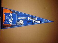 2004 Duke Blue Devil's Final 4 NCAA College Basketball Pennant