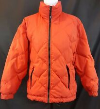 EDDIE BAUER S Goose down Barn outdoor hunter Orange Jacket VTG