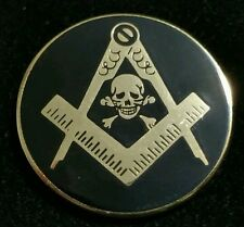 Freemason Skull Lapel Pin