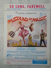 Sheet Music - So Long, Farewell from The Sound of Music 1960 *Rare*