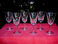 SAINT LOUIS CERDAGNE 6 WINE GLASSES WEINGLÄSER  VERRES A VIN CRISTAL TAILLÉ