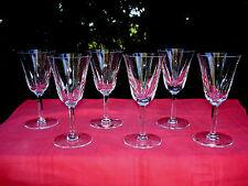 SAINT LOUIS CERDAGNE 4 WINE GLASSES 4 VERRES A VIN CRISTAL TAILLÉ WEINGLÄSER