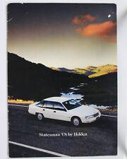 Used Holden Statesman VQ Series I Sales Brochure Specifications V8