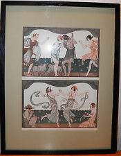 "La Vie Parisienne by Kuhn-Regnier 1923 Art Deco Print Framed 13x17"" $25 OFF BIN"