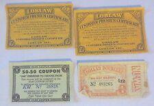Loblaw certificate, Ne-Way Market & 50-50 coupons Vintage premiums