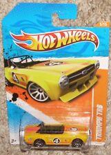 2011 Hot Wheels Car Triumph TR6 #70 Yellow Orange MOC HW Track Stars