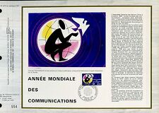 DOCUMENT CEF PREMIER JOUR 1983  TIMBRE N° 2260 ANNEE MONDIALE COMMUNICATIONS