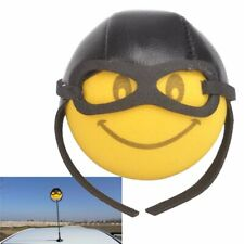 New Cute Smiley Happy Face Pilot Car Antenna Pen Topper Aerial Ball Decor Toy